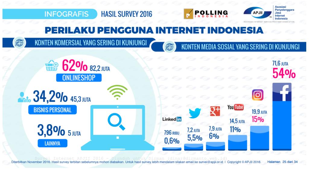 Perilaku Pengguna Internet di Indonesia