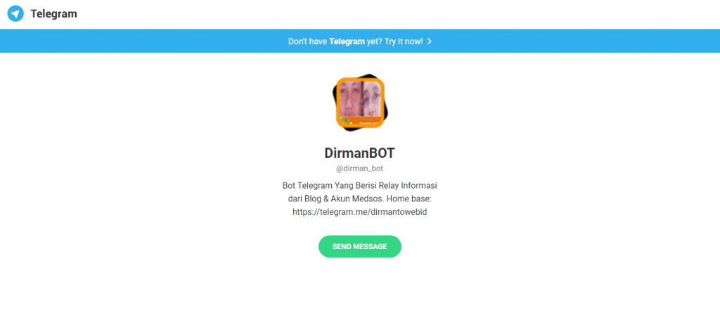 Pengalaman Pertama Memiliki Telegram Bot