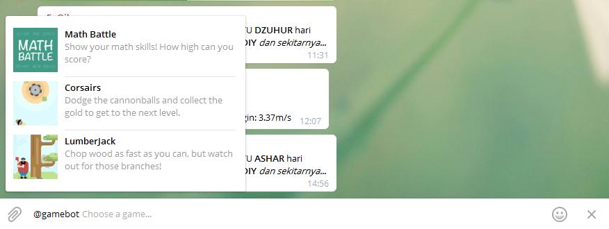 Memanfaatkan Telegram Chat Untuk Pencarian