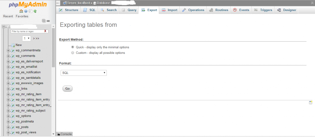 backup sql database