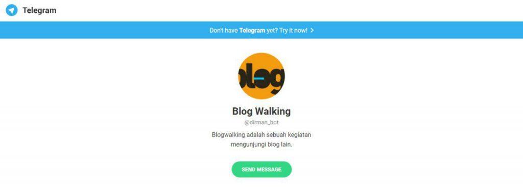 Telegram Bot Asisten Pribadi Seorang Narablog