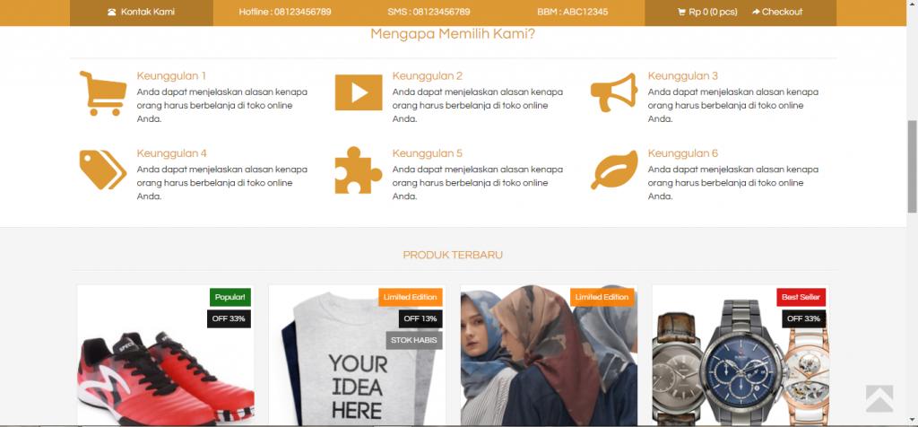 Jasa Website Online Shop Untuk Personal