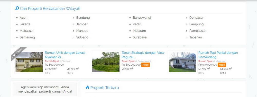 Desain Website Properti Online