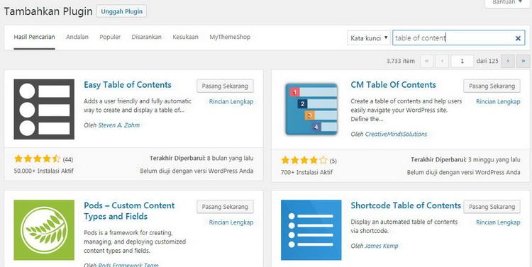 Membuat Tampilan Daftar Isi pada Blog WordPress