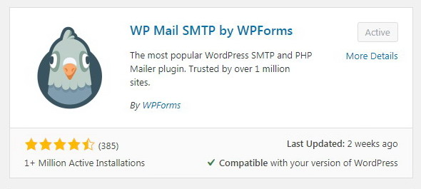 Akhirnya pakai plugin WP Mail SMTP