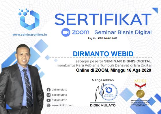 Seminar Online Kelas Bisnis Digital