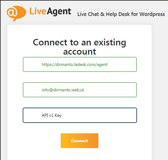 Live Agent Login on Plugin