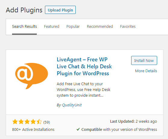 Plugin WordPress LiveAgent