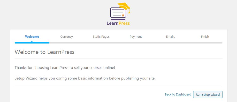 Halaman Seting LearnPress