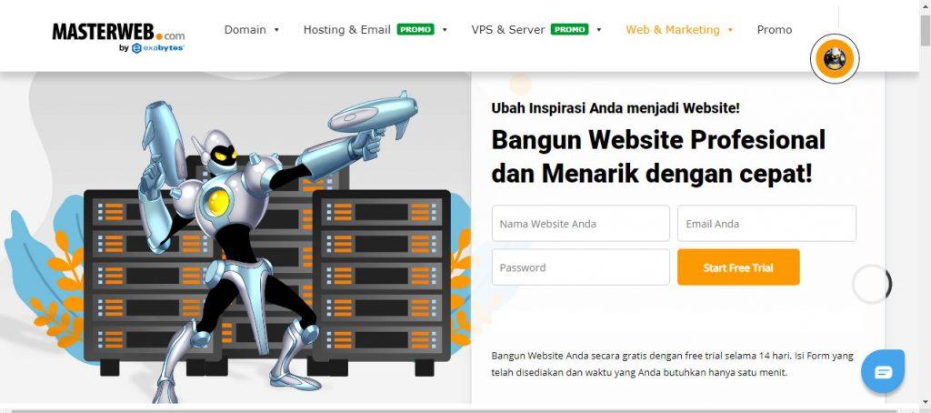 Website 1 Menit Jadi oleh MastwerWeb