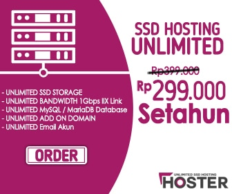 HOSTER SSD Unlimited Hosting Provider Indonesia