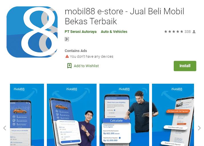 Aplikasi Mobil88 di Layanan Android Playstore