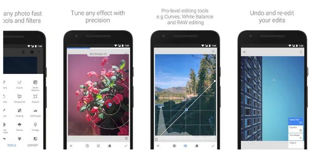 Snapseed adalah editor foto lengkap dan profesional yang dikembangkan oleh Google